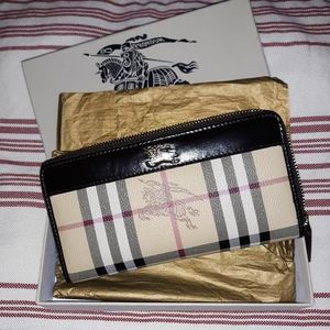 FAUX DESIGNER WALLET Plaid
